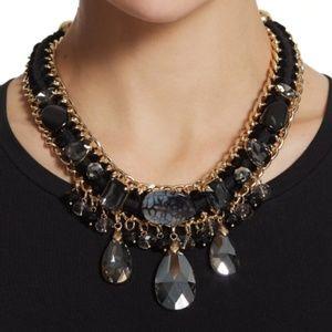 New Chico's Lolita Short Black Bib Necklace